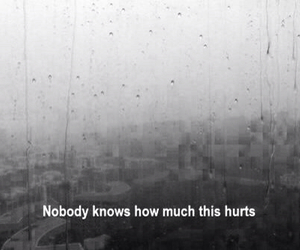 hurt, alone, and pain image