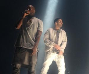 Drake, concert, and kanye image