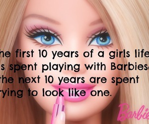 barbie, true, and quote image