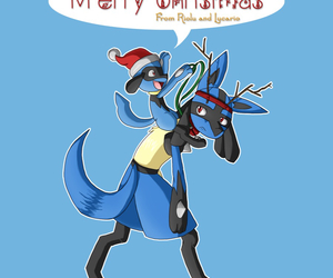 christmas, merry, and pokemon image
