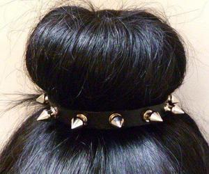 hair, spikes, and bun image