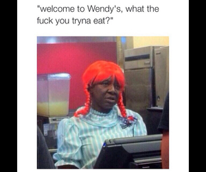 funny, wendy's, and food image