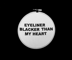 eyeliner and black image