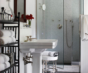 walk in shower, small bathroom ideas, and walk in shower design image
