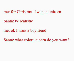 boyfriend, christmas, and unicorn image