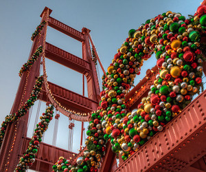 cable car, christmas tree, and gifts image