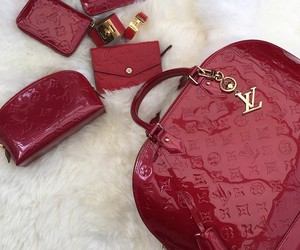 Louis Vuitton, red, and luxury image
