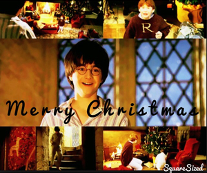 christmas, daniel radcliffe, and harry potter image