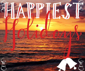 beach, christmas, and happy image