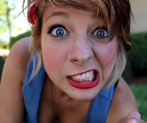 girl, piercing, and eyes image
