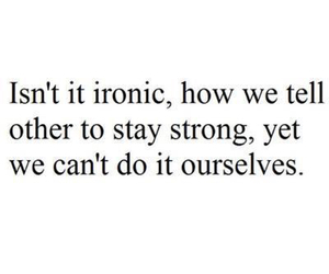 irony and life image