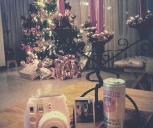 camera, pink, and christmas image