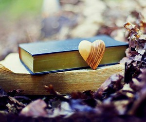 book, flowers, and love image