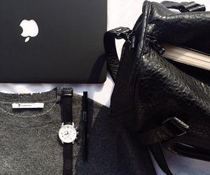 fashion, apple, and black image