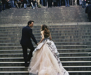 dress, sex and the city, and wedding image