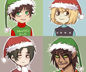 hats, levi, and merry christmas image