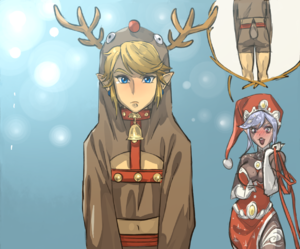 link, christmas, and Legend of Zelda image