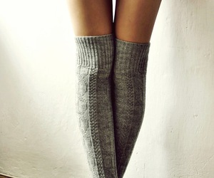 christmas, grey, and socks image