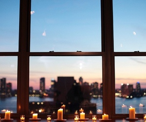 candle, city, and lights image