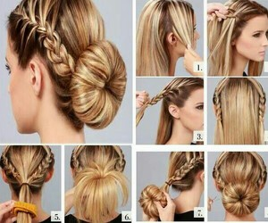 braided, cute, and hairstyles image