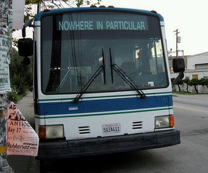 bus, nowhere, and grunge image