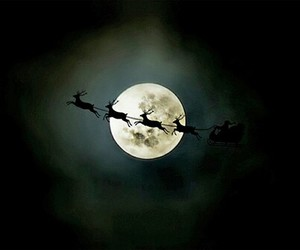 christmas, moon, and santa image