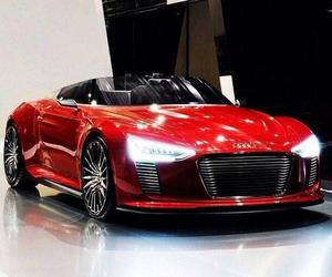 audi, car, and red car image