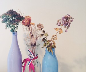 dried flowers, florals, and flowers image