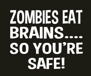 brain, funny, and zombies image
