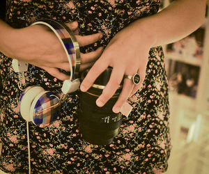 accessories, girly, and headphone image