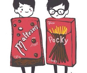maltesers, pocky, and youtubers image