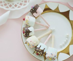 food, yummy, and marshmallow image