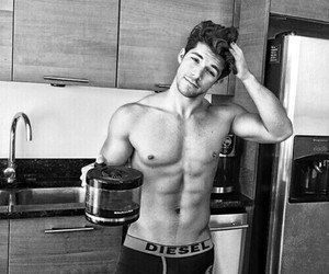 boy, sexy, and coffee image