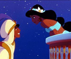 disney, aladdin, and jasmine image