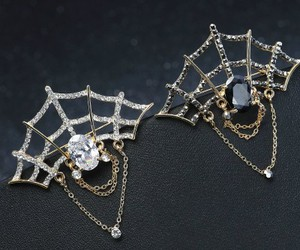 spider cobweb brooch, cobweb spider brooch, and spider web brooch image