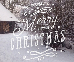 merry christmas, snow, and happy holidays image