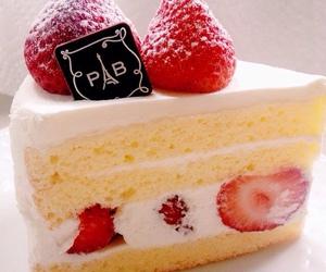 cake, dessert, and strawberry image