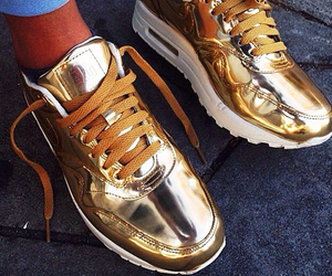 gold, shoes, and fashion image