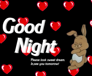 heart and good night image