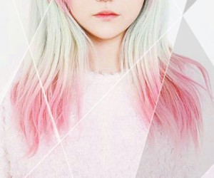 hair style, kfashion, and pink image