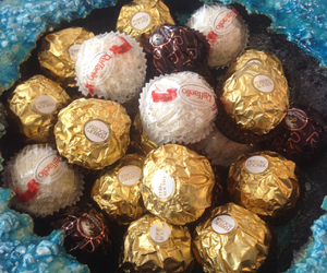 candy, ferrero rocher, and sweet image