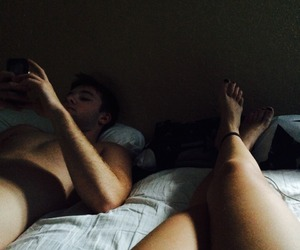 boy, legs, and love image