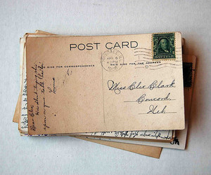 lovely, Post card, and vintage image