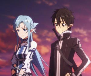 kirito, asuna, and anime image