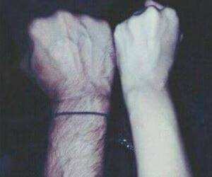 boy, hands, and man image