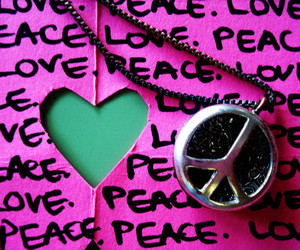peace, pink, and love image