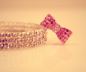 pink, bow, and bracelet image