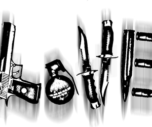 love, gun, and weapon image