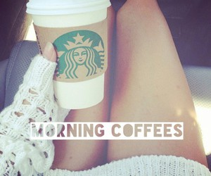 starbucks, coffee, and morning image