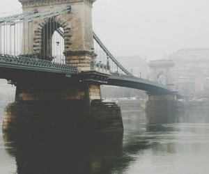bridge, city, and vintage image